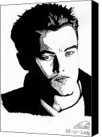 Celeb Canvas Prints - Leonardo Dicaprio Portrait Canvas Print by Alban Dizdari