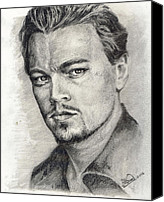 Celeb Canvas Prints - Leonardo Dicaprio Portrait nr.2 Canvas Print by Alban Dizdari