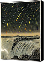 1833 Canvas Prints - Leonid Meteor Shower Of 1833, Artwork Canvas Print by Detlev Van Ravenswaay
