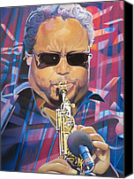 The Dave Matthews Band Canvas Prints - Leroi Moore and 2007 Lights Canvas Print by Joshua Morton