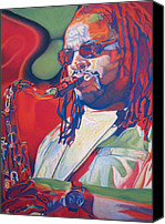 Dave Canvas Prints - Leroi Moore Colorful Full Band Series Canvas Print by Joshua Morton