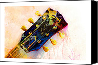 Guitar Headstock Canvas Prints - Les is More Canvas Print by Andrew King