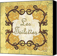 Bathroom Canvas Prints - Les Toilettes Canvas Print by Debbie DeWitt
