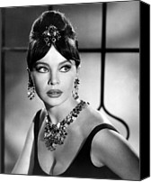 1950s Fashion Canvas Prints - Leslie Caron, Late 1950s Canvas Print by Everett