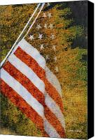 American Flag Canvas Prints - Let Freedom Ring Canvas Print by Donna Blackhall