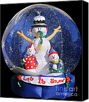 Toys Canvas Prints - Let it snow Canvas Print by Christine Till