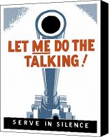 Americana Digital Art Canvas Prints - Let Me Do The Talking Canvas Print by War Is Hell Store