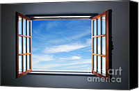 Indoors Inside Canvas Prints - Let the blue sky in Canvas Print by Carlos Caetano