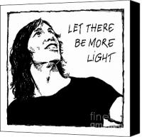 Roger Waters Canvas Prints - Let There Be More Light - Roger Waters early years Canvas Print by Liz Molnar