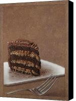 Dessert Drawings Canvas Prints - Let us eat cake Canvas Print by James W Johnson