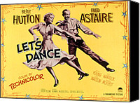 1950s Poster Art Canvas Prints - Lets Dance, Betty Hutton, Fred Astaire Canvas Print by Everett