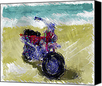 Fun Mixed Media Canvas Prints - Lets go for a ride Canvas Print by Russell Pierce
