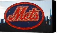 New York Mets Canvas Prints - Lets Go Mets Canvas Print by Richard Bryce