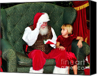 Santa Claus Canvas Prints - Letter To Santa Canvas Print by Eddie Yerkish