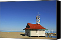 House Canvas Prints - Leuty Lifeguard Station in Toronto Canvas Print by Elena Elisseeva