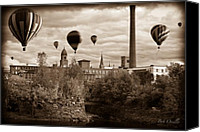 Balloon Festival Canvas Prints - Lewiston Maine Hot Air Balloons Canvas Print by Bob Orsillo