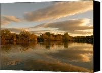 Skyscape Canvas Prints - Lewsiton Across The River Canvas Print by Bob Orsillo