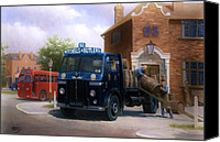 1950s Canvas Prints - Leyland dray. Canvas Print by Mike  Jeffries