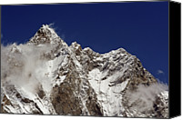 Nepal Canvas Prints - Lhotse And Lhotse Sar Canvas Print by Pal Teravagimov Photography