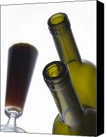 Glass Bottles Canvas Prints - Libation 3 Canvas Print by Patrick Ziegler