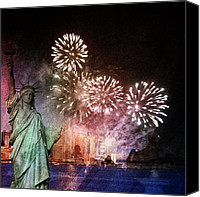 All Canvas Prints - Liberty Canvas Print by Elizabeth  Doran