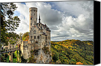Medieval Canvas Prints - Lichtenstein Castle Canvas Print by Ryan Wyckoff