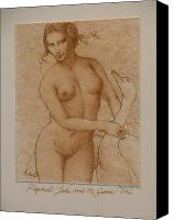 Nude Canvas Prints - Lida and the Swan after Raphael Canvas Print by Gary Kaemmer