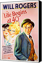 1935 Movies Canvas Prints - Life Begins At Forty, Will Rogers, 1935 Canvas Print by Everett