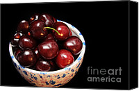 Berry Canvas Prints - Life Is Like A Bowl Of Cherries  Canvas Print by Andee Photography