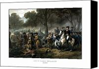 Battle Drawings Canvas Prints - Life of George Washington Canvas Print by War Is Hell Store