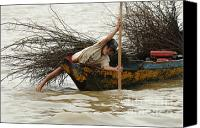 Sap Canvas Prints - Life On Lake Tonle Sap 3 Canvas Print by Bob Christopher