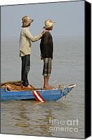 Sap Canvas Prints - Life On Lake Tonle Sap 4 Canvas Print by Bob Christopher
