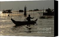 Sap Canvas Prints - Life On Lake Tonle Sap 7 Canvas Print by Bob Christopher