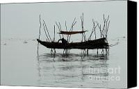 Sap Canvas Prints - Life On Lake Tonle Sap  Canvas Print by Bob Christopher