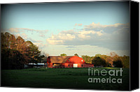 Farming Barns Canvas Prints - Life On The Ranch Canvas Print by Kathy  White