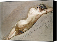 Nudes Canvas Prints - Life study of the female figure Canvas Print by William Edward Frost