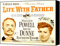 Posth Canvas Prints - Life With Father, William Powell, Irene Canvas Print by Everett