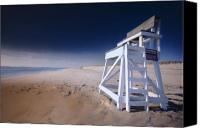 Nauset Beach Canvas Prints - Lifeguard Chair - Nauset Beach Canvas Print by Dapixara Art
