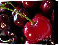 Life Is Beautiful Canvas Prints - Lifes a Bowl of Cherries Canvas Print by Colleen Kammerer