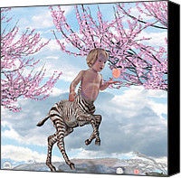 Centaur Drawings Canvas Prints - Liger  Pluck Canvas Print by David Starr