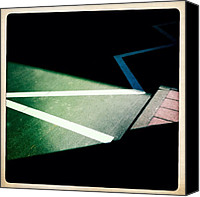 Street Canvas Prints - Light and shadow triangles Canvas Print by Matthias Hauser