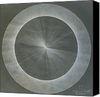 Squared Canvas Prints - Light is Pi  The shape of Pi Canvas Print by Jason Padgett