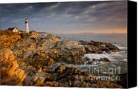 Daybreak Canvas Prints - Light on Portland Head Canvas Print by Susan Cole Kelly
