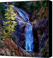 Southern Rocky Mountains Canvas Prints - Light on Seven Falls Canvas Print by Aaron Burrows