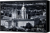 Prague Castle Canvas Prints - Light on the Cathedral Canvas Print by Joan Carroll