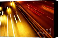 Moving Canvas Prints - Light Trails Canvas Print by Carlos Caetano