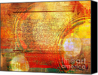 Faniart Africa America Canvas Prints - Light Word Canvas Print by Fania Simon