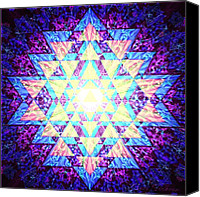 Tibetan Digital Art Canvas Prints - Light Yantra Canvas Print by Clare Goodwin