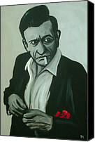 Johnny Cash Canvas Prints - Lighten Up Canvas Print by Pete Maier