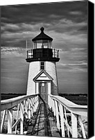 Whale Photo Canvas Prints - Lighthouse at Nantucket Island II - black and white Canvas Print by Hideaki Sakurai